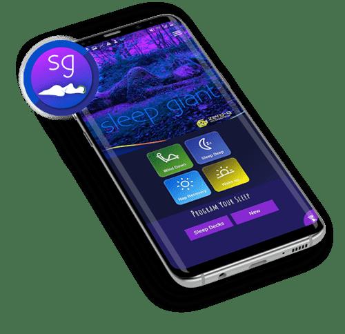 Sleep Giant app homepage with icon